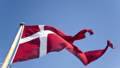 Photo of Hejs flaget i en danskproduceret flagstang